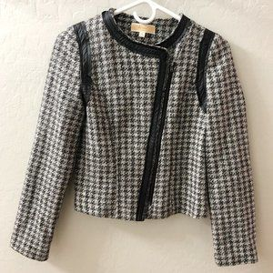 Lost April Anthropologie Houndstooth Blazer